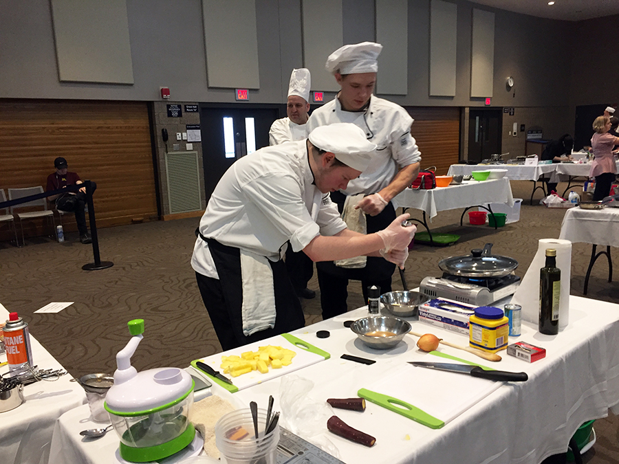 Amery High School team competint at Recipe for Excellence