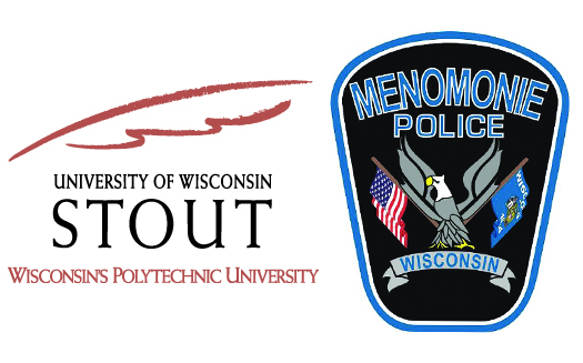 UW-Stout and Menomonie Police Dept. logos