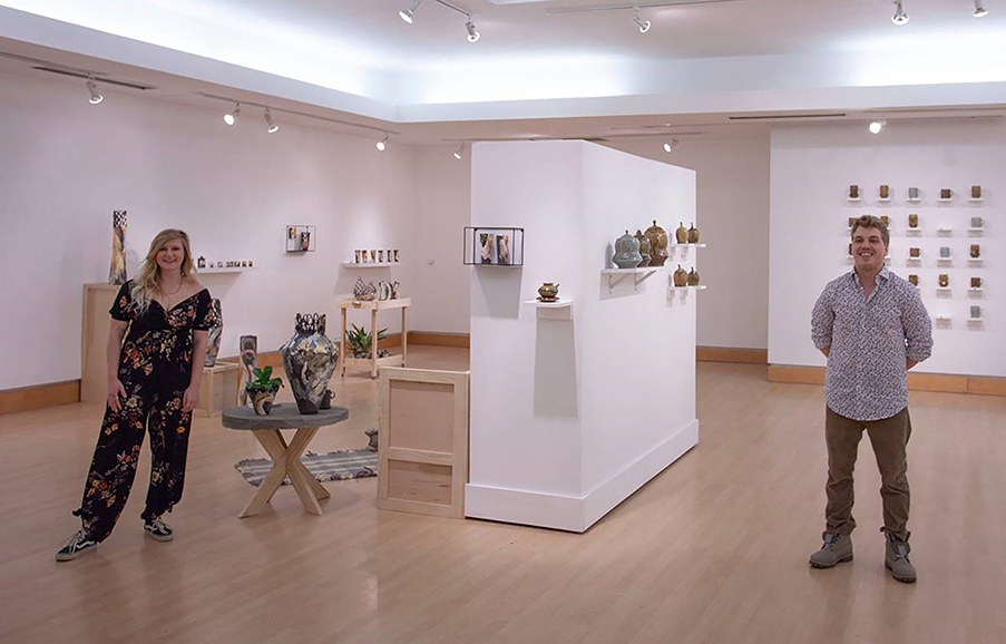 Lily Lund and Carter Pasma, studio art-ceramics majors at UW-Stout, exhibited their work recently at Gallery 209 in the Applied Arts Building.