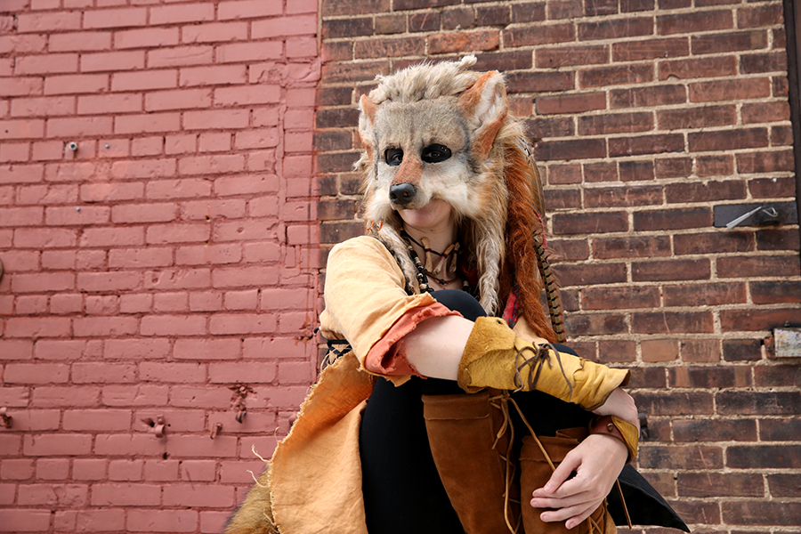 One of Dillhunt's designs, a woodland fox, has become a character at the Renaissance Festival in Shakopee, Minn. that she portrays.