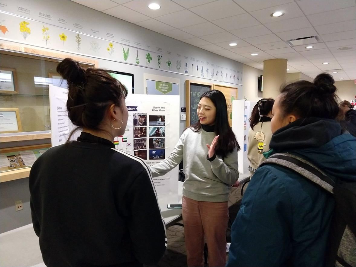 South Korean students share their culture with UW-Stout students.