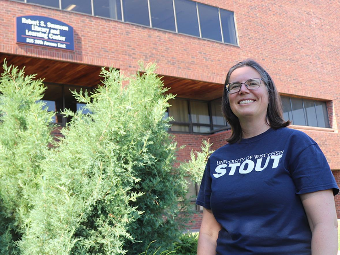 Ann Vogl, UW-Stout systems librarian, received the 2020 University Library's Barnard Outstanding Service Award.