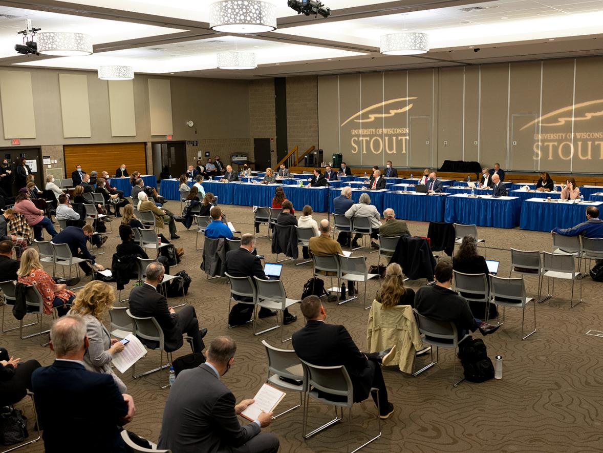 The Joint Finance Committee held a state budget hearing April 22 at UW-Stout.