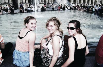 UW-Stout students studying abroad in Paris, France.