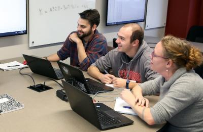 UW-Stout students in the Quantitative Research Methods course.