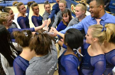 UW-Stout gymnastics team.
