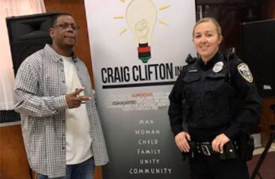 Craig Brown and a Milwaukee area police office, a Craig Clifton, Inc. community partnership.